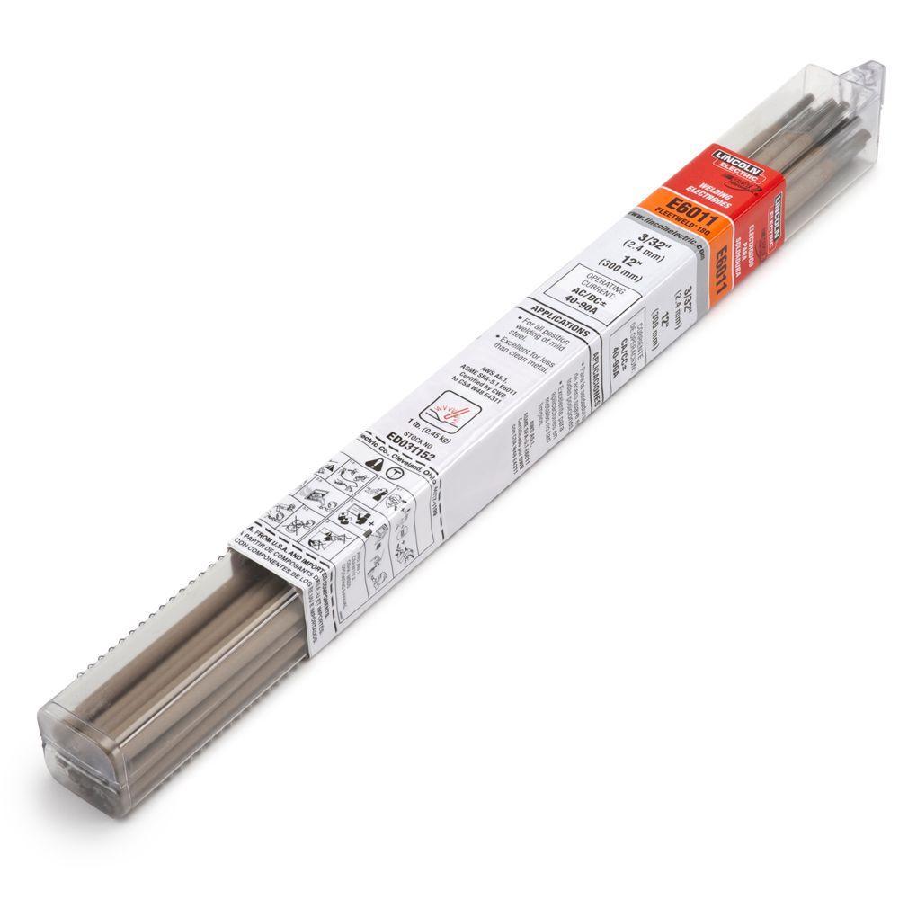 1/8 in. Dia. x 14 in. Long Fleetweld 180-RSP E6011 Stick Welding Electrodes (1 lb. Tube)