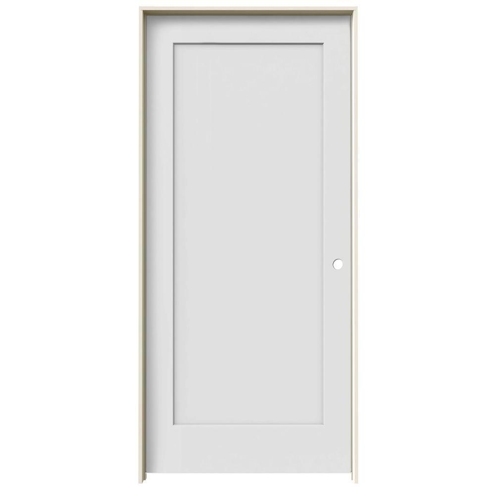 Jeld Wen 36 In X 80 In Madison Primed Left Hand Smooth Molded Composite Mdf Single Prehung