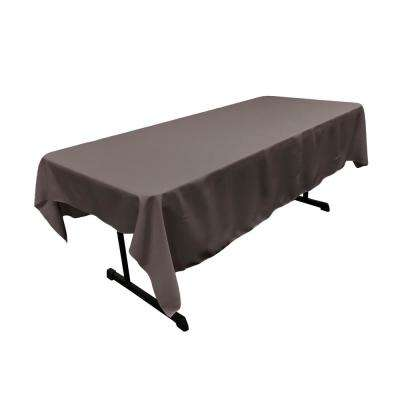 Charcoal  60 in. x 90 in. Polyester Poplin Rectangular Tablecloth