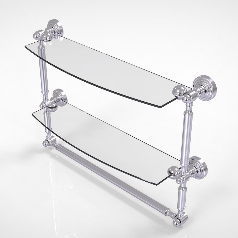 Allied Brass Waverly Place Collection 18 in. 2-Tiered Glass Shelf ...