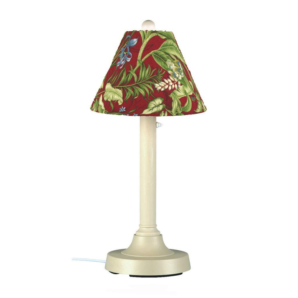Patio Living Concepts San Juan 30 in. Bisque Outdoor Lamp with Lacquer Shade