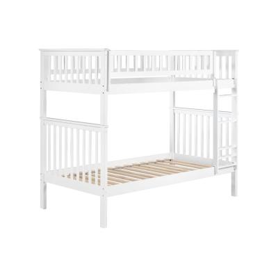 Woodland White Twin over Twin Bunk Bed
