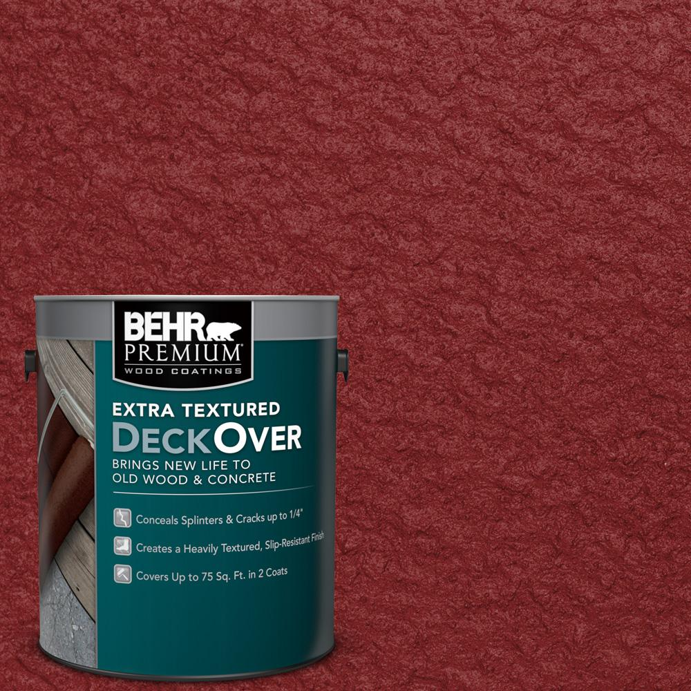 1 gal. #SC-112 Barn Red Extra Textured Wood and Concrete Coating