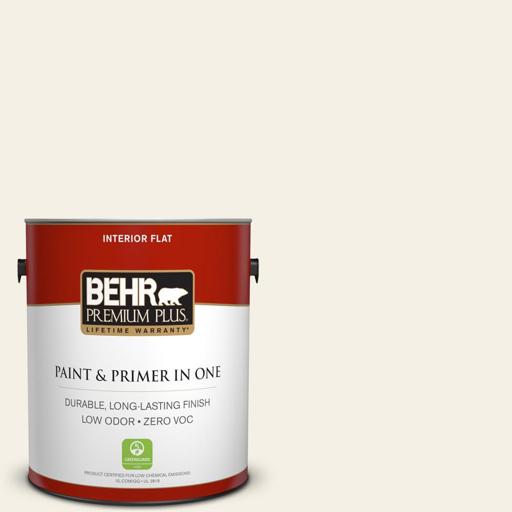 BEHR Premium Plus 1-gal. #BWC-07 Cotton Blossom Flat Interior Paint