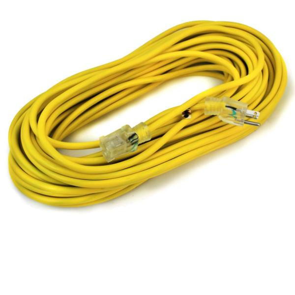 100 ft. 10/3-Gauge Electric Extension Power Cord Cable