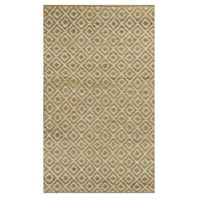 Diamonds Forever Beige/Brown 8 ft. x 10 ft. Area Rug