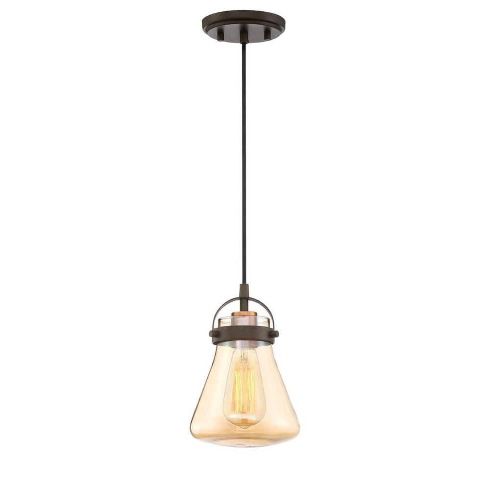 Home decorators collection 1 light oil rubbed bronze antique brass mini pendant 27111 the Home decorators collection mini pendant