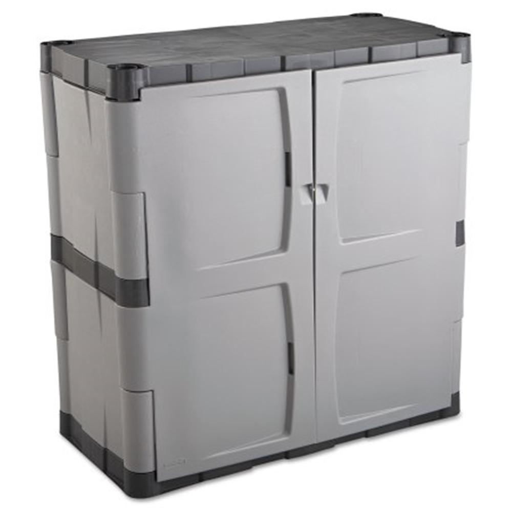Closet Cabinetry: Rubbermaid 37 In. H X 36 In. W X 18 In. D Gray Resin Base