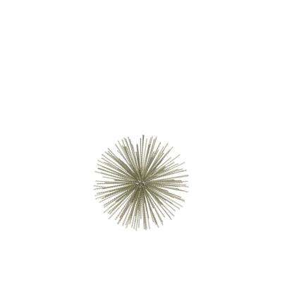 6.75 in. H Sculpture Decorative Sculpture in Champagne Coated