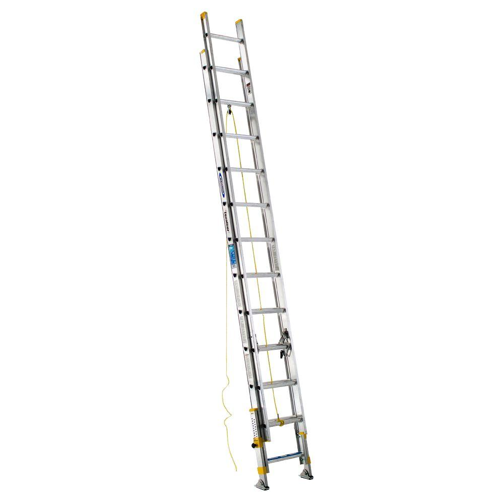 Werner 24 ft. Aluminum D-Rung Equalizer Extension Ladder with 250 lb. Load Capacity Type I Duty Rating