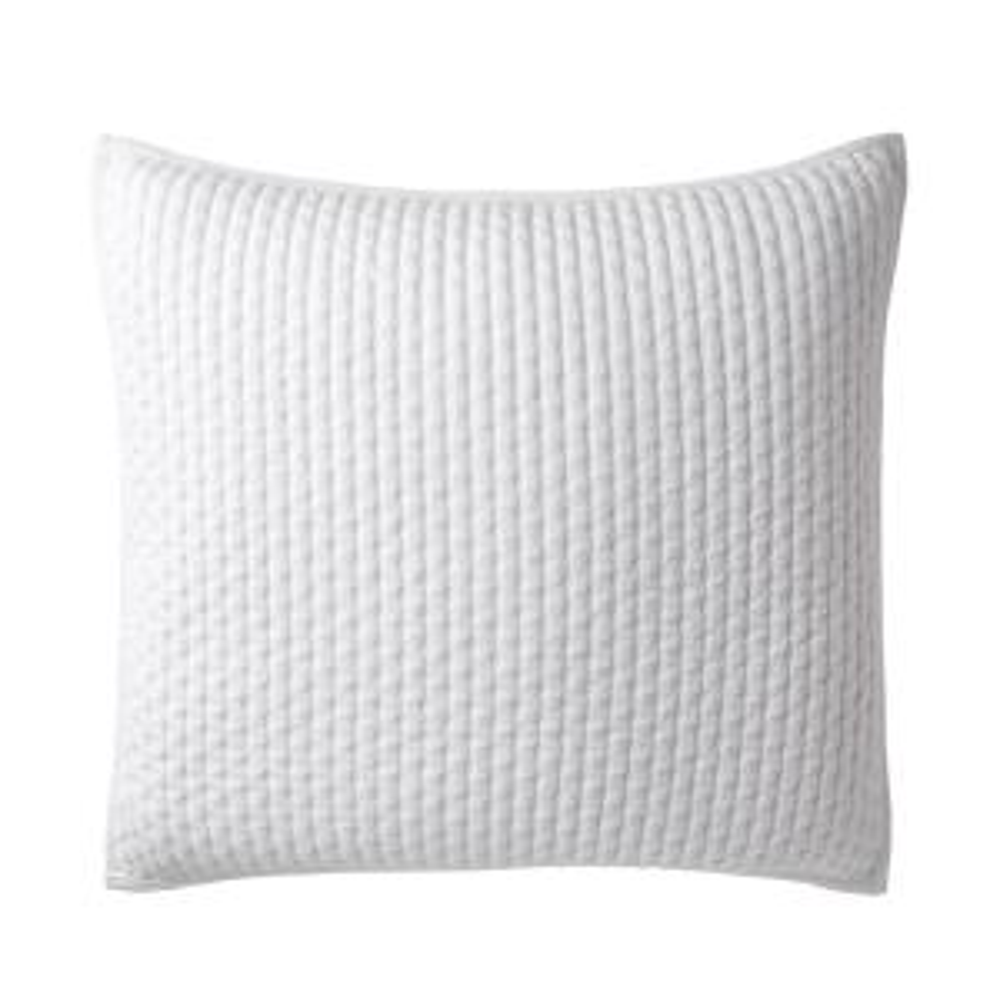 Legends Paloma Cotton Textured Euro Sham in White