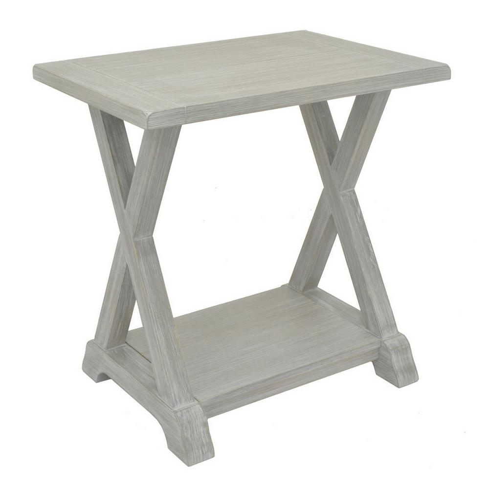 Gray Wood Side Table. THREE HANDS 23 5 in  Gray Wood Side Table 66185   The Home Depot