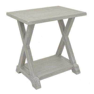 Marvelous Gray Wood Side Table