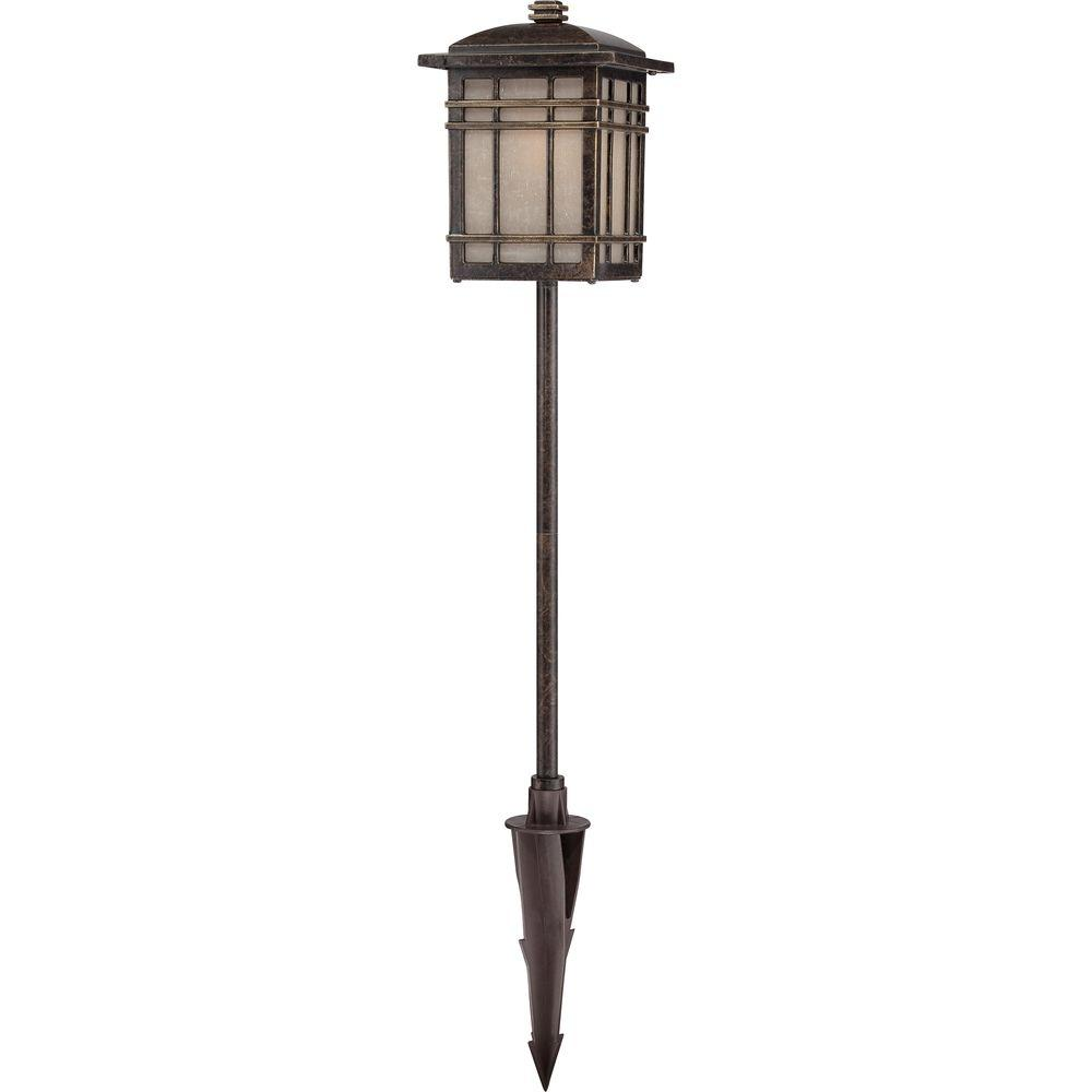 Filament Design Monroe 1-Light Outdoor Imperial Bronze Outdoor Halogen Post Lantern Light