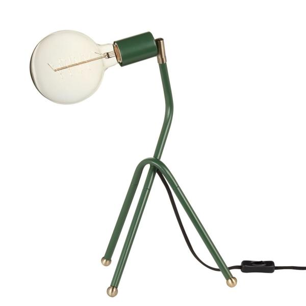 Perry 16 in. Eden Green Desk Lamp with Black Fabric Cord