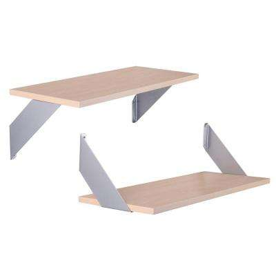 10 in. x 24 in. Platinum Over/Under Decorative Shelf Kit