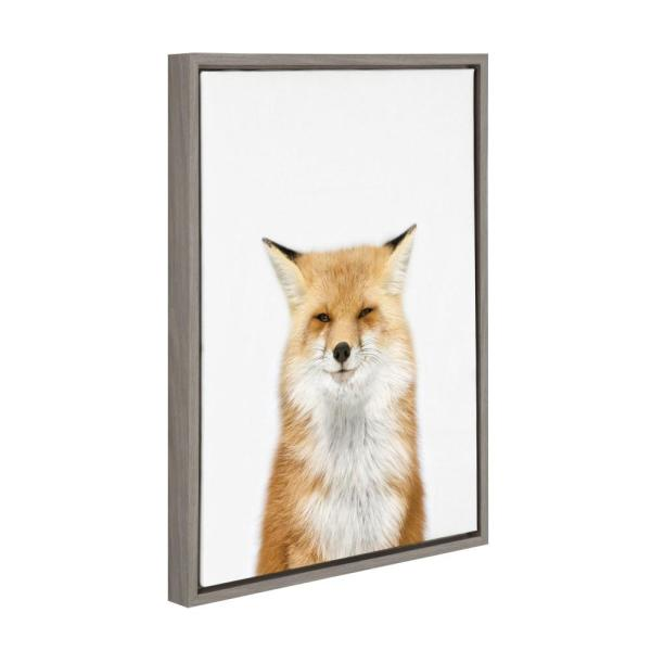 Kate And Laurel Sylvie Animal Studio Fox 3 By Amy Peterson Framed Canvas Wall Art 213244 The Home Depot