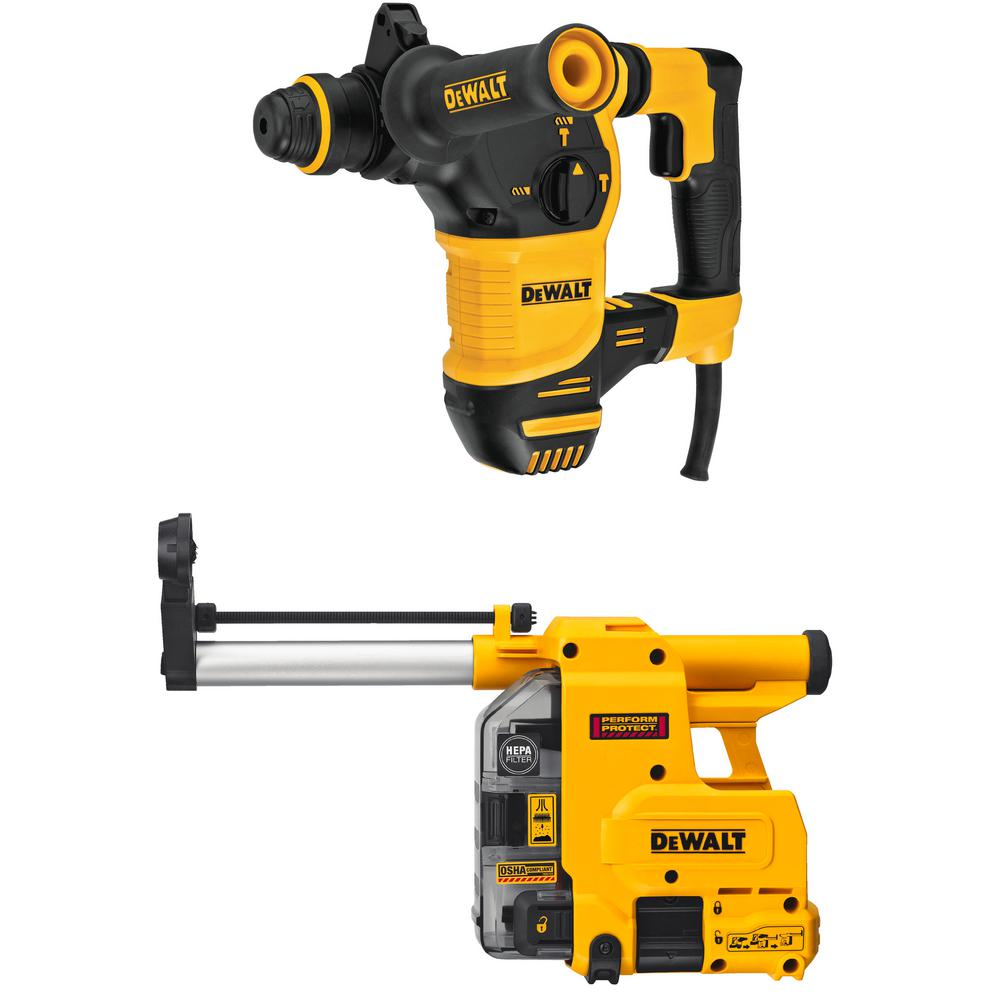 Dewalt Dust Extractor >> Dewalt 8 5 Amp 1 1 8 In Corded Sds Plus Rotary Hammer Kit With Onboard Dust Extractor