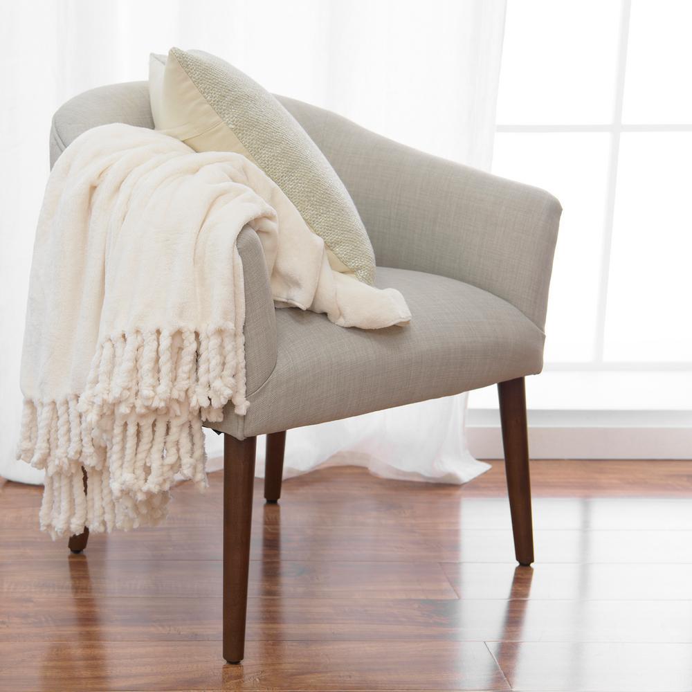 Ivory Romantic Throw Blanket