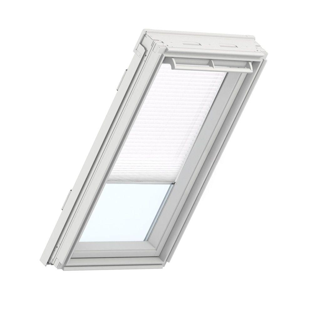 velux white manual light filtering skylight blinds for gpu. Black Bedroom Furniture Sets. Home Design Ideas