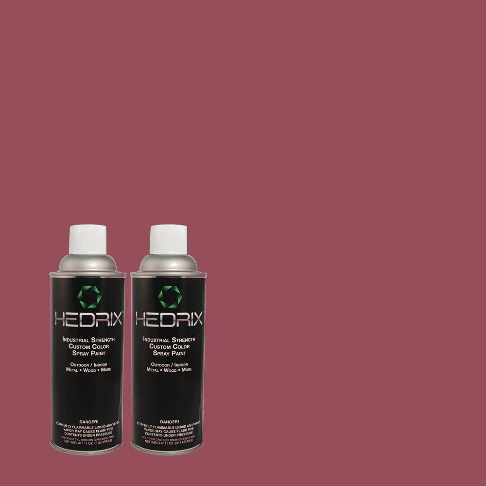 Hedrix 11 oz. Match of 4C14-3 Mulberry Wine Low Lustre Custom Spray Paint (2-Pack)