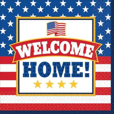 6.5 in. x 6.5 in. Welcome Home Luncheon Napkins (36-Count, 3-Pack)
