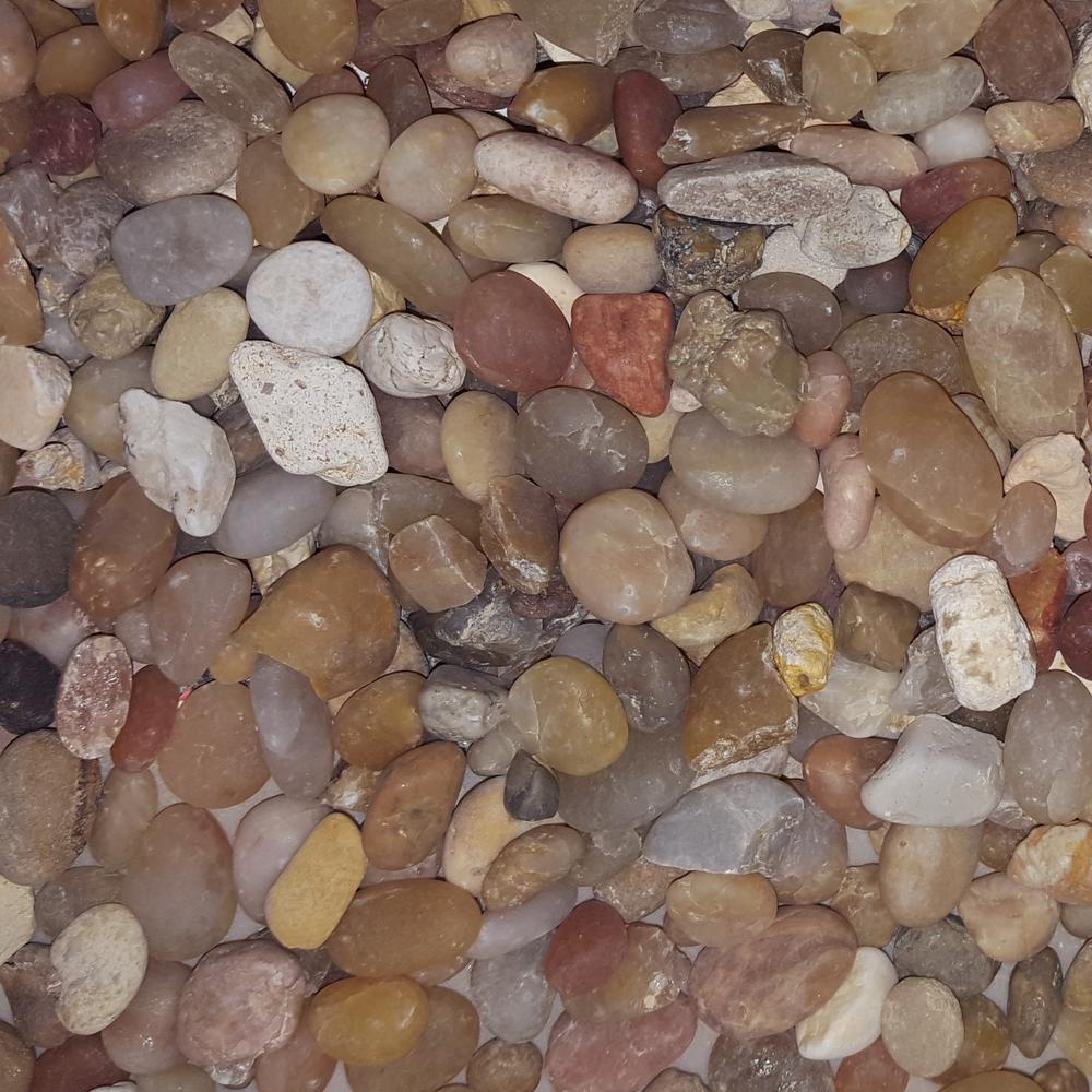 Butler arts cu ft 1 in 2 in black mexican beach for Landscaping rocks pebbles