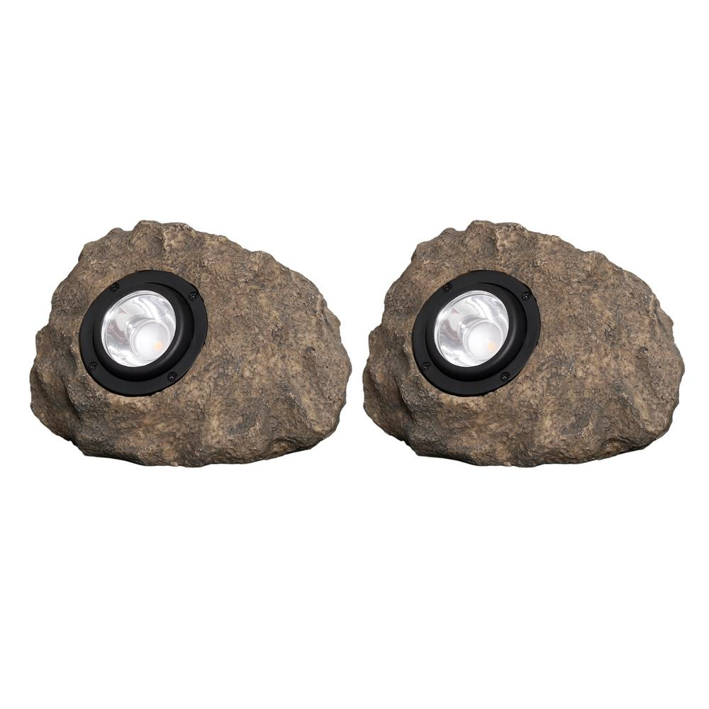 Westinghouse Solar Gray Outdoor Integrated Led Landscape Path Light 2 Pack