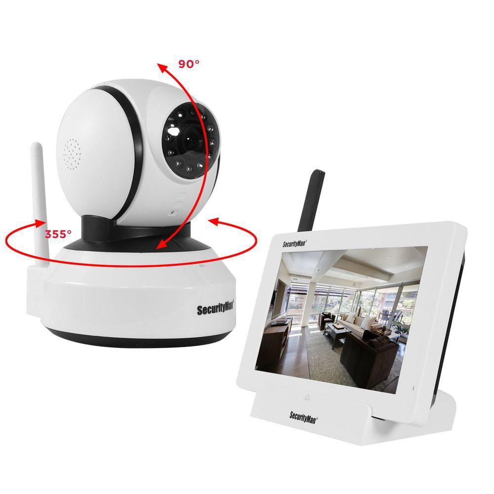 Wireless cameras security camera systems home security video isecurity 4 channel 480tvl digital wireless 1 indoor pantilt camera system solutioingenieria Choice Image