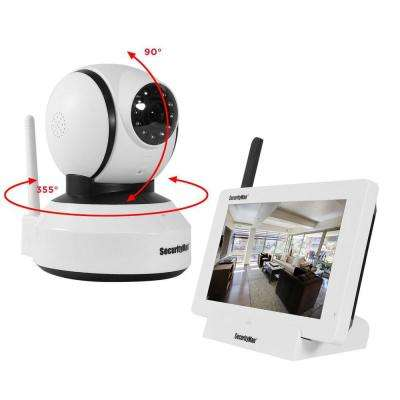 iSecurity 4-Channel 480TVL Digital Wireless 1 Indoor Pan/Tilt Camera System Kit with Remote Viewing