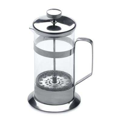 Studio 1.5-Cup Silver Stainless Steel and Glass Coffee/Tea Plunger