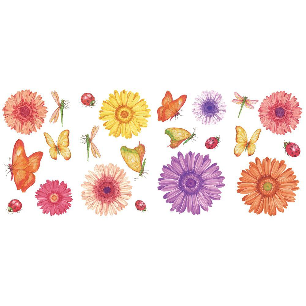 The Wallpaper Company Daisies Wall Decals Kit