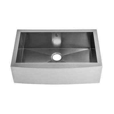 kokols Undermount Stainless Steel 31 in. Single Bowl Kitchen Sink