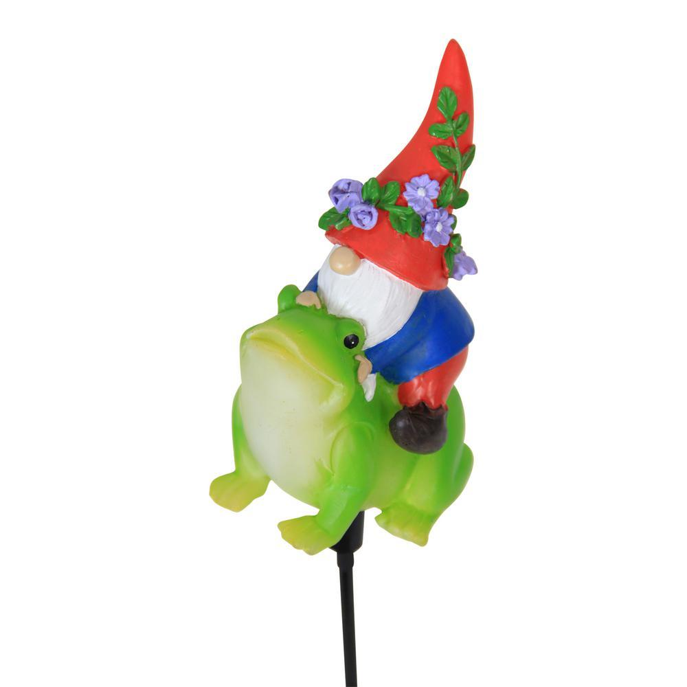 Solar Gnome Riding Frog