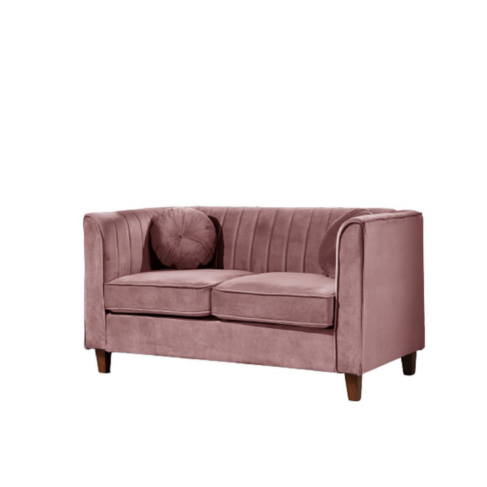 Peachy Lowery Velvet Kitts Classic Chesterfield Loveseat Rose Short Links Chair Design For Home Short Linksinfo