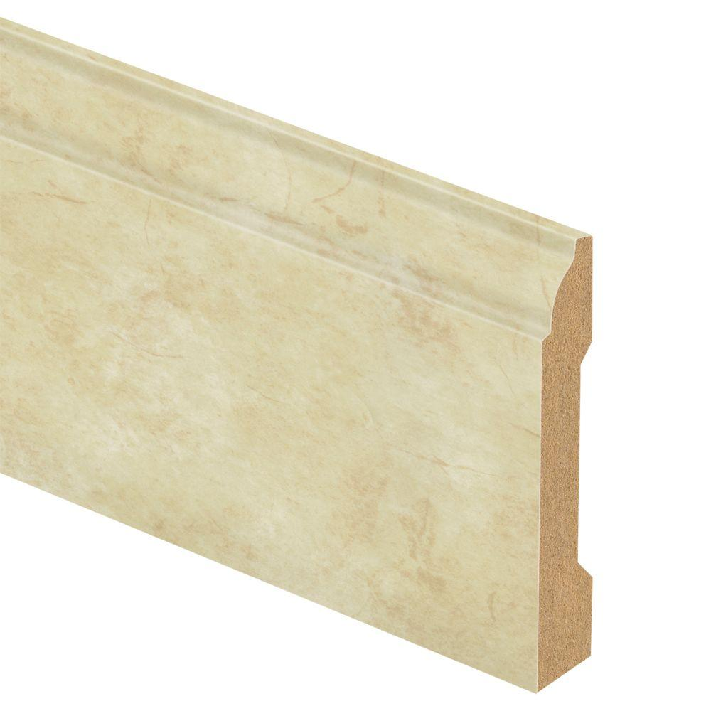 Zamma Antique Linen 9/16 in. Thick x 3-1/4 in. Wide x 94 in. Length Laminate Wall Base Molding