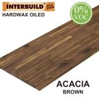Acacia 6 ft. L x 25 in. D x 1 in. T Butcher Block Countertop in Brown Oil Stain
