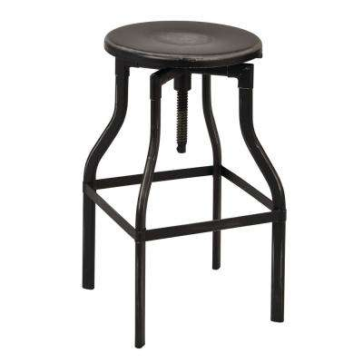 "Eastvale 30"" Metal Barstool In Antique Black"