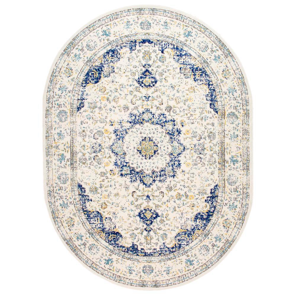 nuLOOM Verona Vintage Persian Blue 7 ft