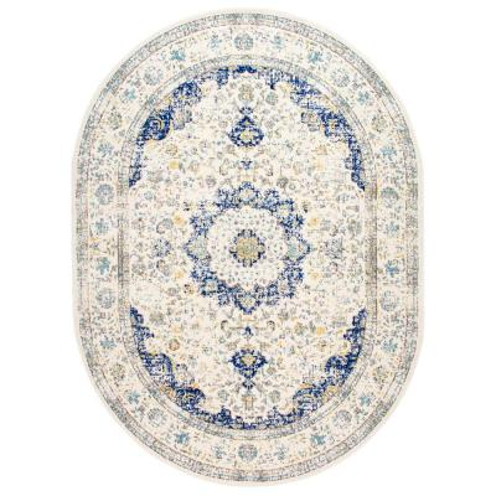 Verona Vintage Persian Blue 3 ft. x 5 ft. Oval Rug