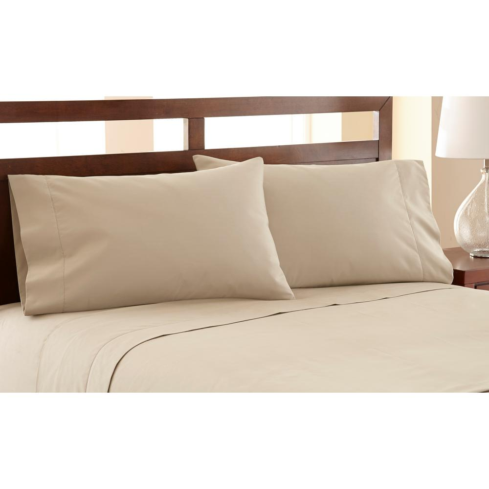 Awesome 4 Piece Beige 1200 Thread Count Cal King Sheet Set