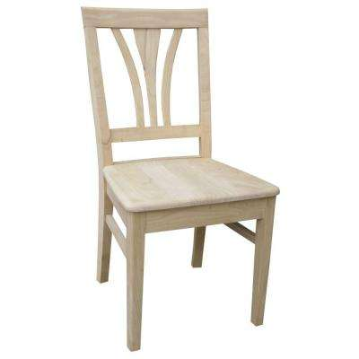 Unfinished Wood Fan Back Dining Chair (Set of 2)