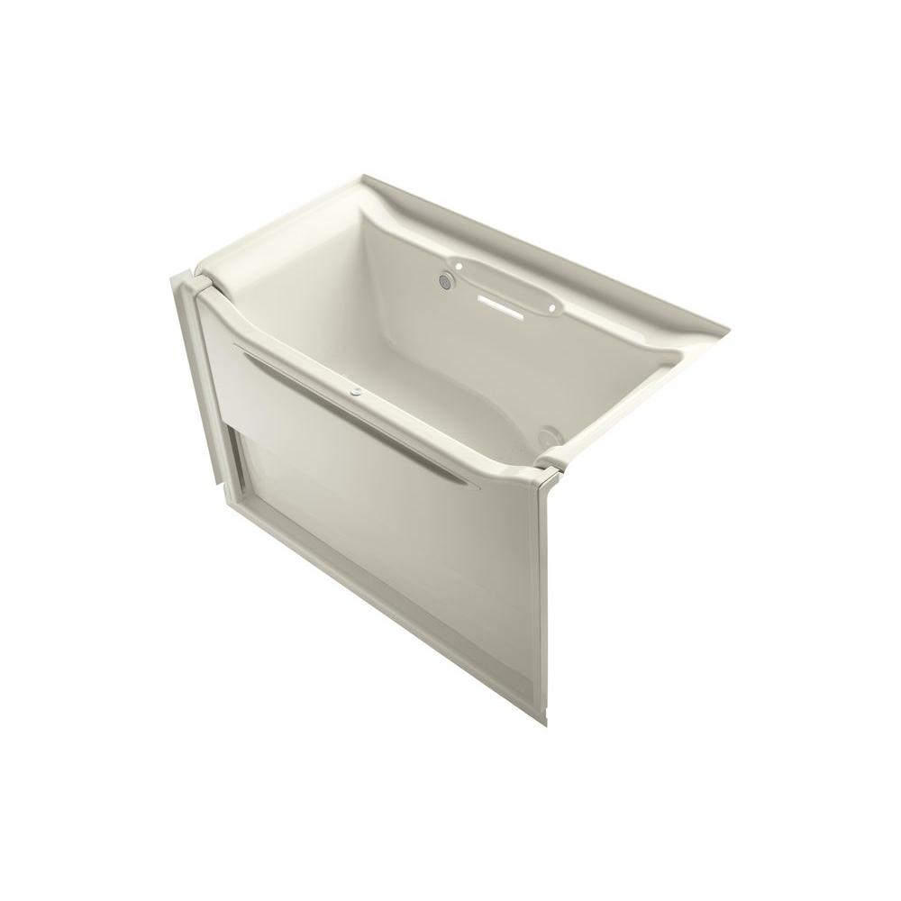Kohler Elevance 5 Ft Air Bath Tub In Biscuit K 1914 Grw