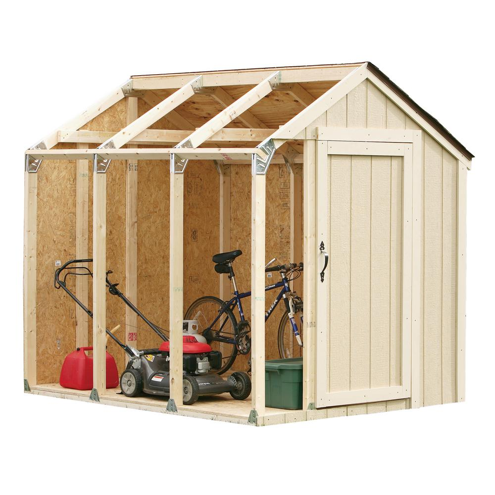 shed kit with peak roof 90192 the home depot. Black Bedroom Furniture Sets. Home Design Ideas