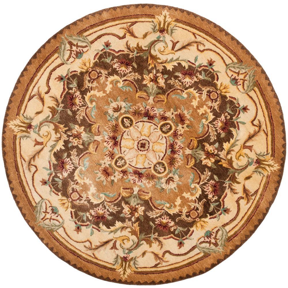Safavieh Empire Brown Beige 8 Ft X 8 Ft Round Area Rug