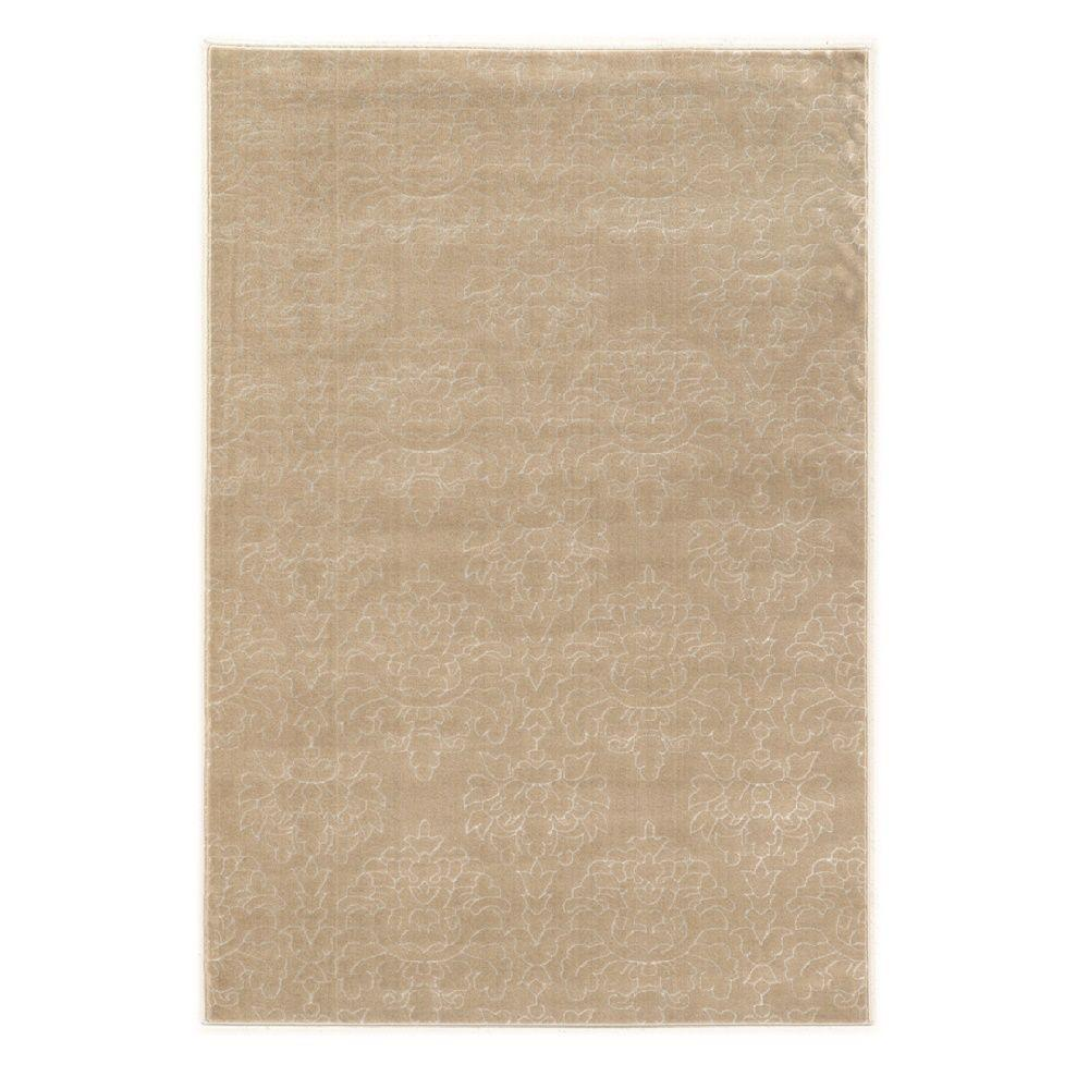 Prisma Chloe Light Beige and White 2 ft. x 3 ft. Indoor Area Rug,  Primary: Light Beige/Secondary: White