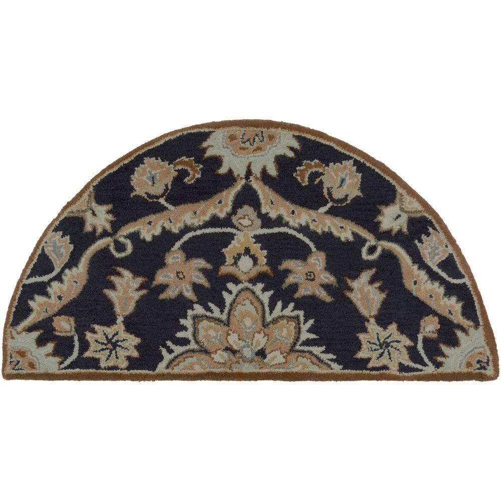 Ferdinand Navy 2 ft. x 4 ft. Hearth Indoor Area Rug