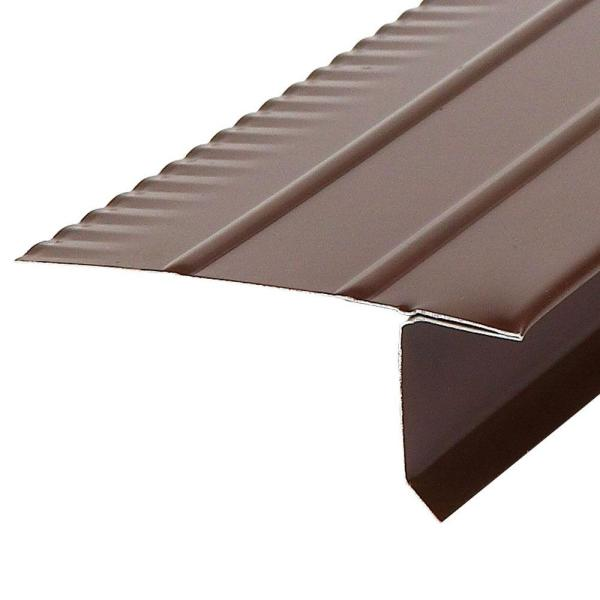 F4 1/2 Brown Aluminum Drip Edge Flashing