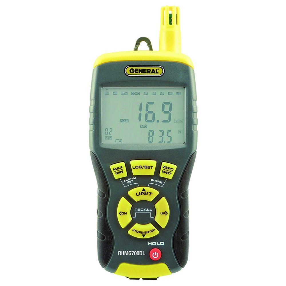 14-in-1 Data Logging Thermo-Hygrometer/Moisture Meter