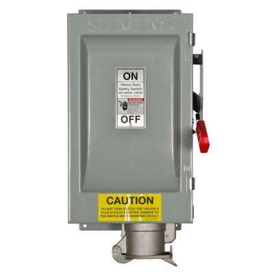 Heavy Duty 60 Amp 600-Volt 3-Pole Type 12 Non-Fusible Safety Switch with Receptacle